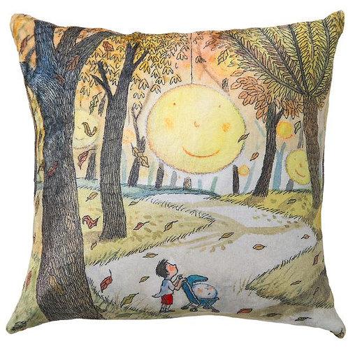 【繪見幾米】2015新款 月亮搖籃 法蘭絨數位抱枕/單顆