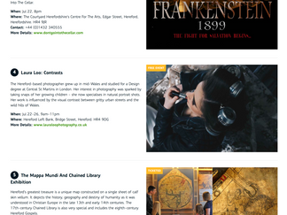 London Midland train website promoting my exhibition. :)