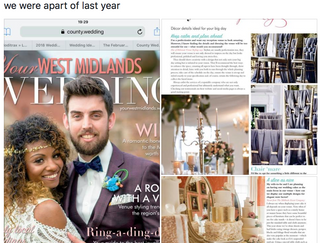 Wedding magazine feature for a few of my photographs (Chair decor)!!