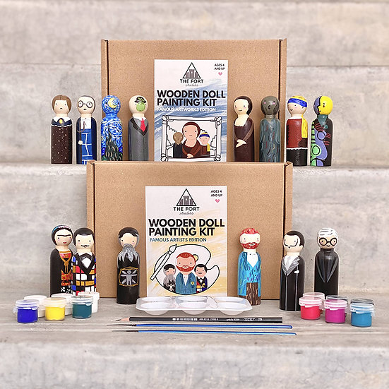 Wooden Doll Painting Kit