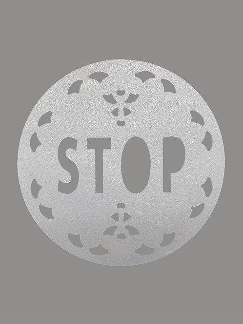 STOP retroreflective sticker