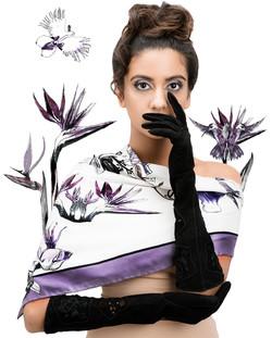 Kalmia black suede gloves