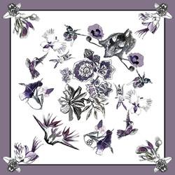 Riina O scarf illustration web