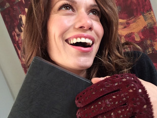 Bethany Joy Lenz wearing Riina O gloves