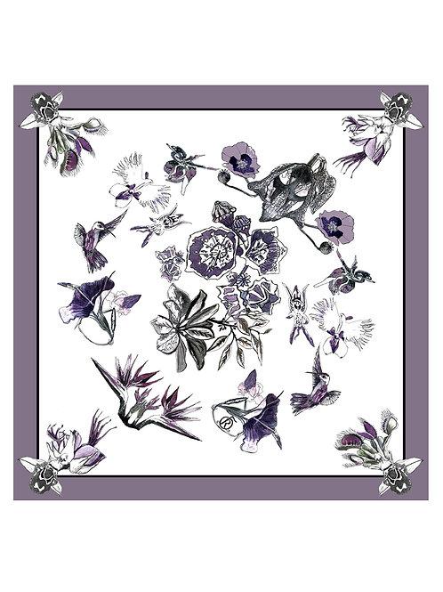 """The Flowers of Evil silk scarf 40x40cm"