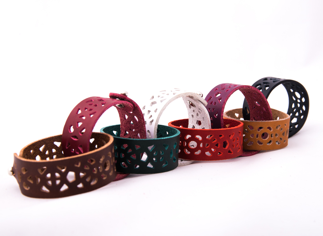 Riina O waterjet cut bracelets. Photo by Raigo Tõnisalu