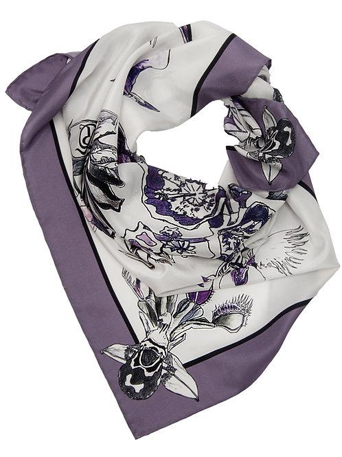 """The Flowers of Evil"" silk scarf 90x90cm"