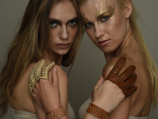 Riina O studio secrets - waterjet cut leather bracelets