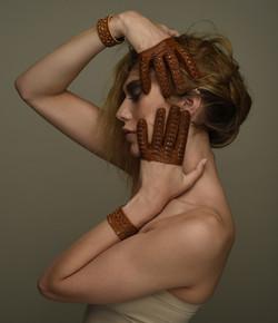 Sabiha tan gloves, Leeanne bracelet