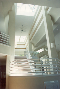 Contemporary stair skylights