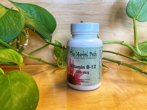 Vitamin B-12 500mcg 100 Tablets