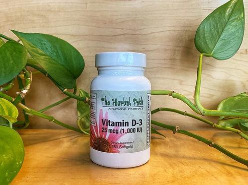 Vitamin D-3 1000IU (25mcg) 250 softgel