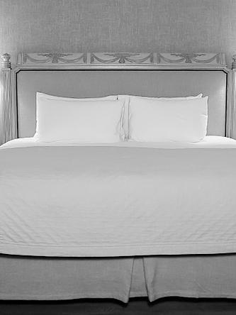 Un lit fait à la perfection