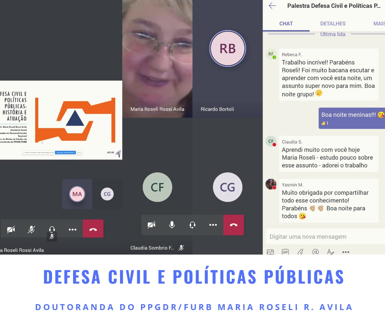 Palestra Defesa Civil com a Doutoranda M