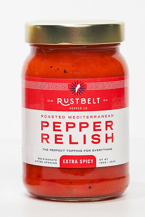 Extra Spicy Roasted Mediterranean Pepper Relish