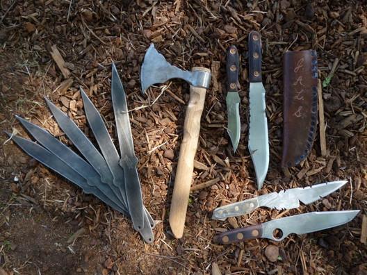 Joe Brokenfeather Darrah's custom knives, Multi-World Champion Knife & Tomahawk Thrower and Whip Champion