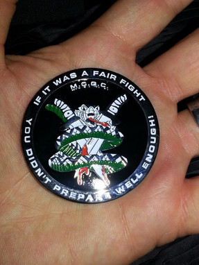 Blocker Academy of Martial Arts Challenge Coin - Military Close Quarters Combat (MCQC) Limited Editiion Coin