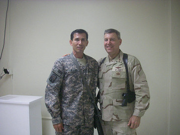 Petty Officer Snake Blocker and Admiral - Afghanistan 2009