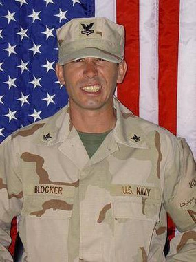 Petty Officer Snake Blocker - Kuwait Tour 2004