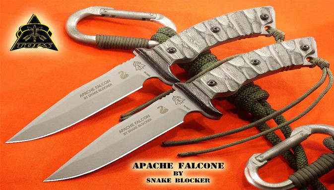 Snake Blocker Signature Knife by Tops Knives, Made in the USA - Apache Falcon Knife