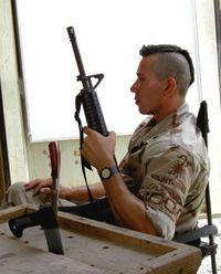 Petty Officer Snake Blocker, Kuwait Tour 2004
