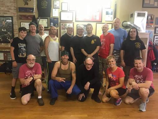 Tim Tackett and Snake Blocker and students - Blocker Academy of Martial Arts, Kansas