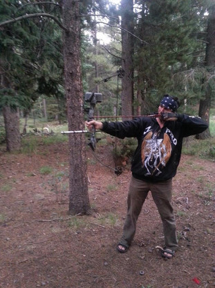 Snake Blocker shooting compound bow, Colorado