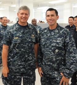 Vice Admiral Gerald Beaman & Snake Blocker, Hawaii