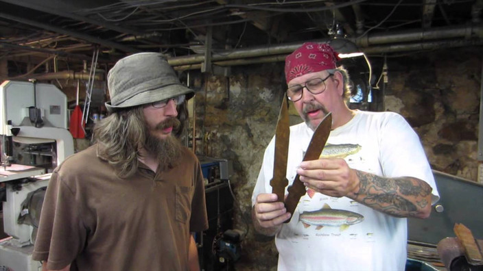 Joe Brokenfeather Darrah (right photo), Multi-World Champion Knife & Tomahawk Thrower and Whip Champion