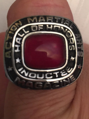 Snake Blocker's Action Martial Arts Magazine Hall of Fame Inductee Ring