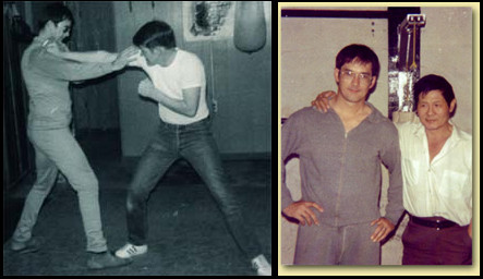 Sifu Gary Dill with Sifu James Lee (right photo).