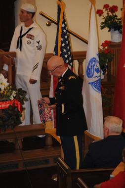 Petter Officer Snake Blocker, Bell Toller at the Denver Memorial Day Gold Star Family Tribute