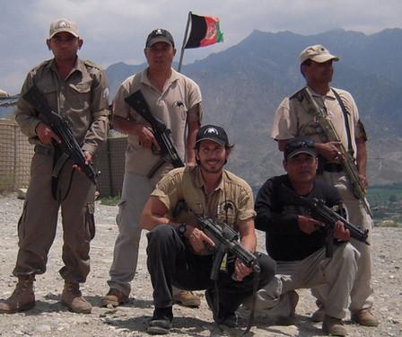 Snake Blocker (FHI Contractor) in Afghanistan working alongside Gurka Security Detail Team (Firebase Chamkani).