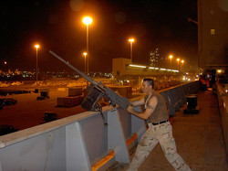 Petty Officer Snake Blocker, Kuwait 2004