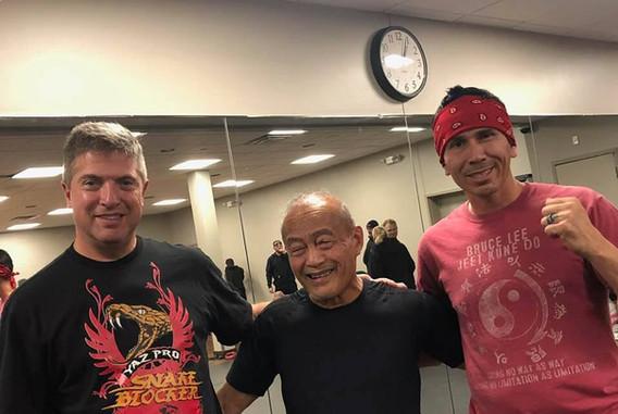 Derek Mezo, Guro/Sifu Dan Inosanto, & Snake Blocker