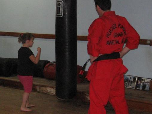 Snake Blocker teaching youth.