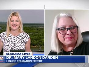 "HEI President Dr. Mary Darden appears on WSFA's ""Alabama Live!"""