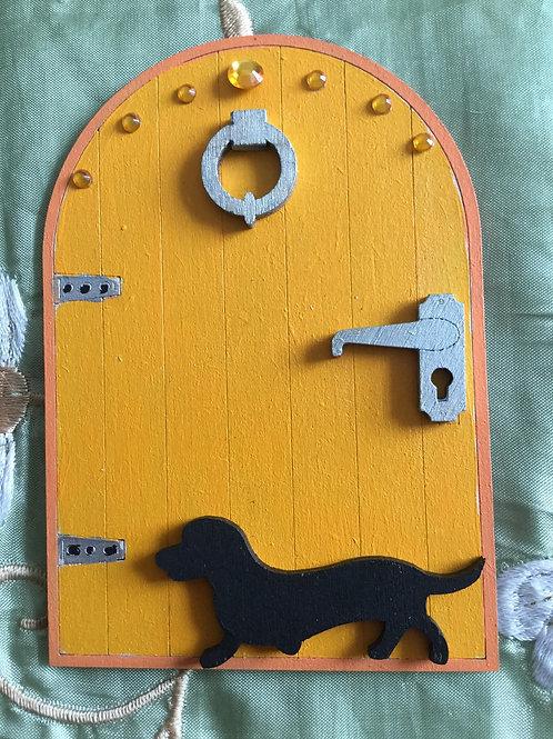 Fairy Door With Dachshund Dog