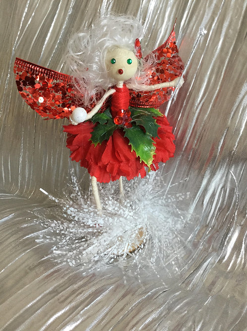 Christmas Holly Fairy - Snowball