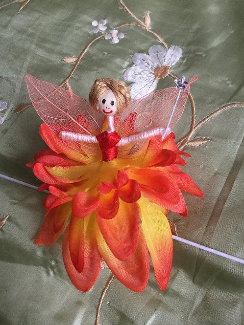 Dahlia Flower Fairy Doll
