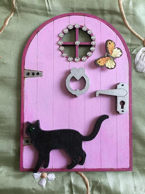 Fairy Door With Cat