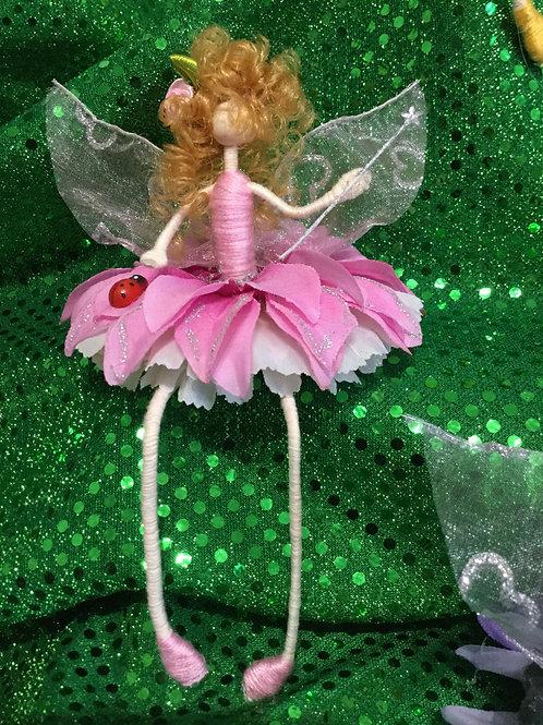 Shelf Sitter Fairy Pink & White