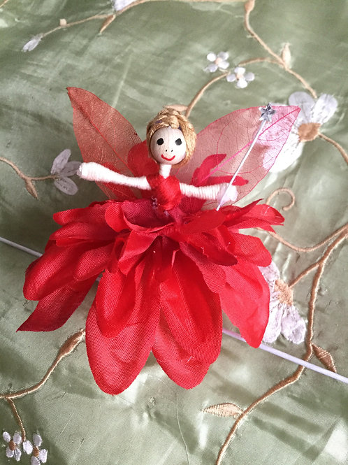 Dahlia Flower Fairy Doll