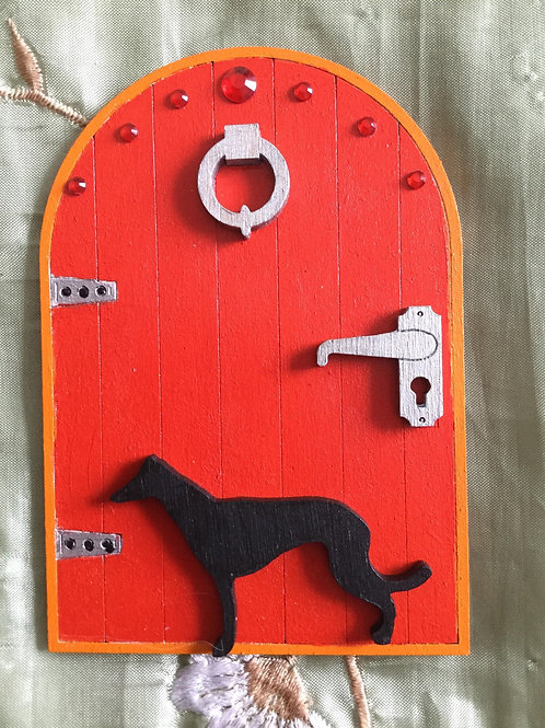 Fairy Door Featuring A Whippet/Greyhound