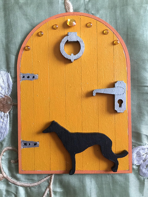 Fairy Door With Whippet/Greyhound
