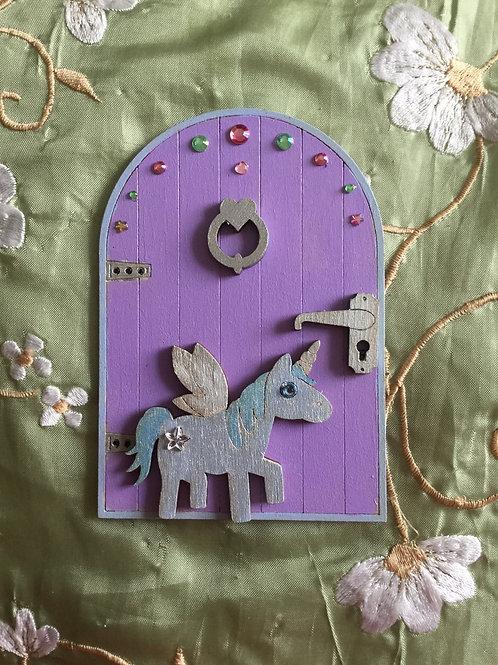 Basic Fairy Door With Unicorn