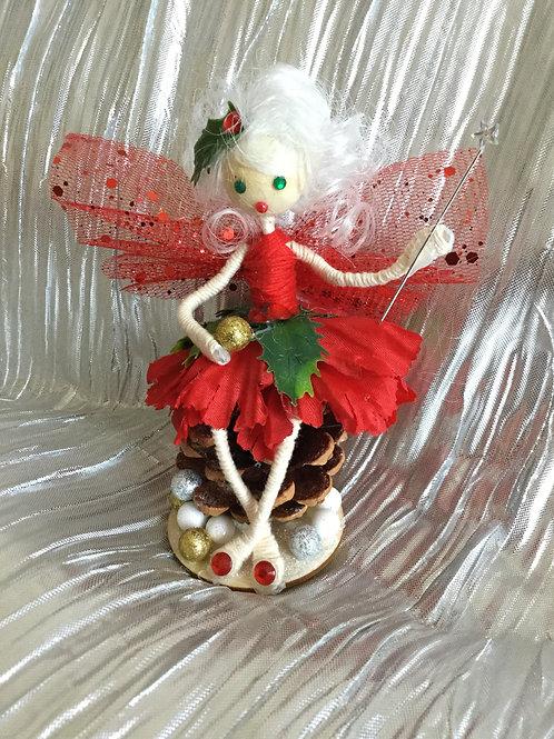 Christmas Holly Fairy Seated