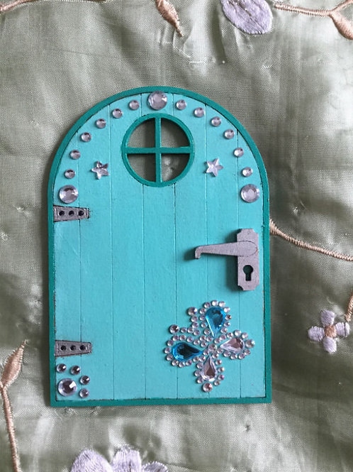 Basic Fairy Door With Window & Gem Butterfly