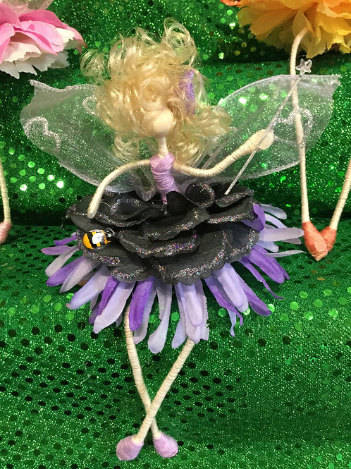 Shelf Sitter Fairy Purple & Black