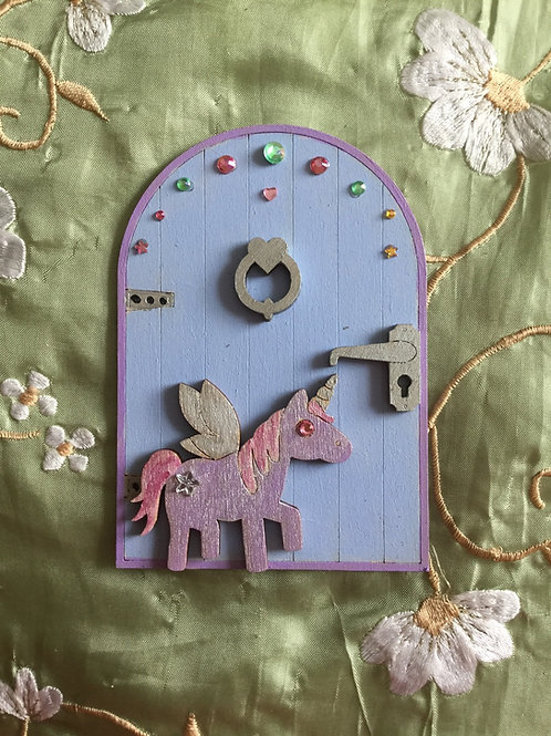 Basic Fairy Door With Unicorn